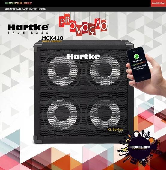 Gabinete Para Baixo Hartke Hcx410 400 Watts 8 Ohms 4x10 Novo