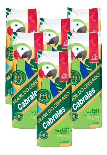 6x Cafe Grano Cabrales Do Cerrado 1kg 6kg Tostado