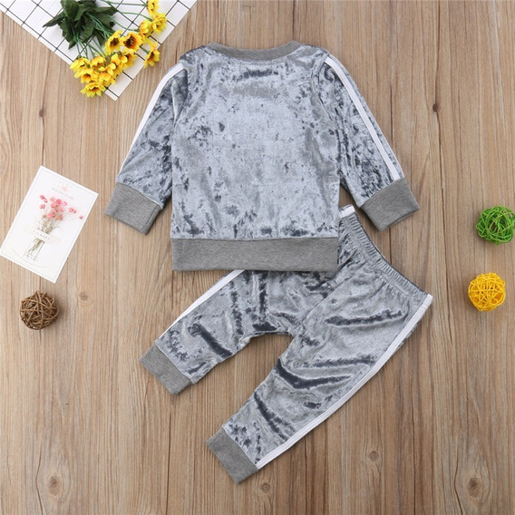 Conjunto Veludo Inverno Bebê Infantil Menina Calça Blusa