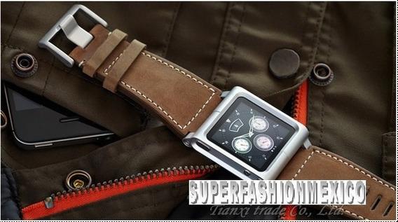Extensible iPod Nano 6 Generacion Correa Cuero 2 Colores
