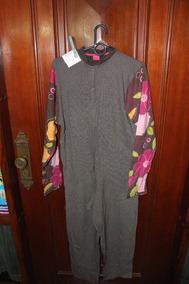 = Roupa Lote 708 Mulher Pijama Puket Macacao Longo Marrom 1.