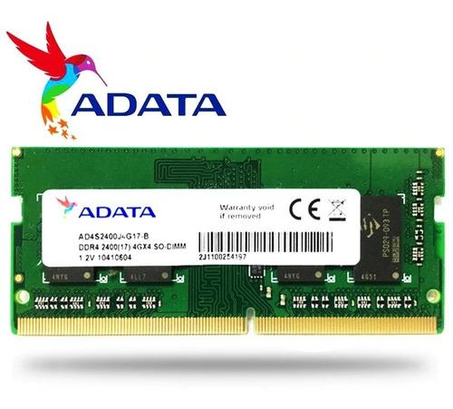 Memória Ram Para Notebook Adata 8gb 2666mhz Ddr4