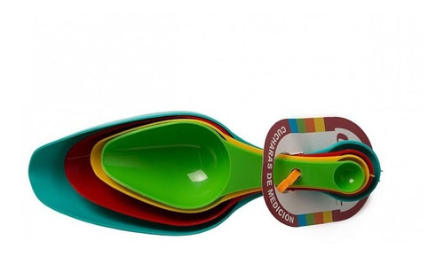 Cucharas Medidoras Plasticas Set X4 Un Dosificador