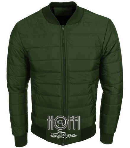Chaqueta Hombre Verde Bomber Jacket