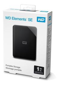 Hd Externo 1tb Portátil Wd Elements Se Usb 3.0 Ps4-xbox