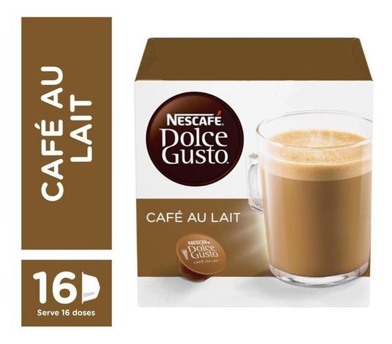 Cápsulas De Café Dolce Gusto Au Lait Caixa Com 16 - Nestlé