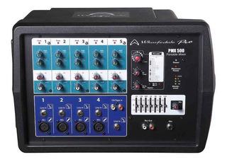 Wharfedale Pmx500 Consola Potenciada 5 Canales 150w Mixer