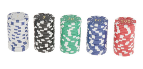 Lotes 100 Fichas Texas Hold'em Poker Chip 11.5g Juego De