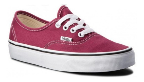 Zapatillas Vans Authentic Dry Rose Unisex Original Bordo