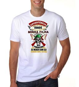 Camisa Personalizada Poliéster Papai Frases Filha Cuidado