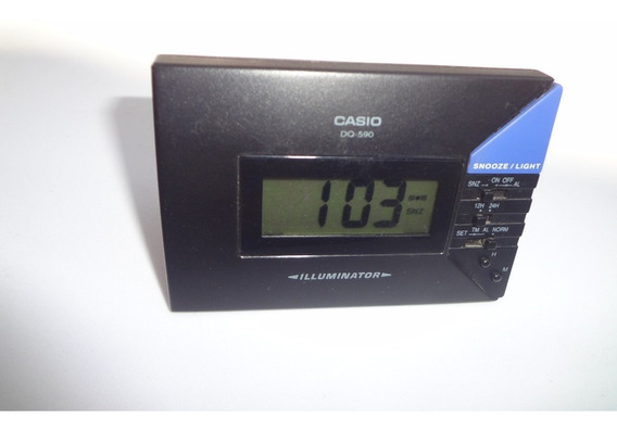 Casio Iluminator Dq-590-despertador Digital Retro