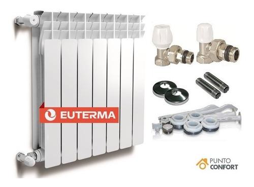 Radiador Euterma Moscú 500 X 12 Elementos + Kit Completo