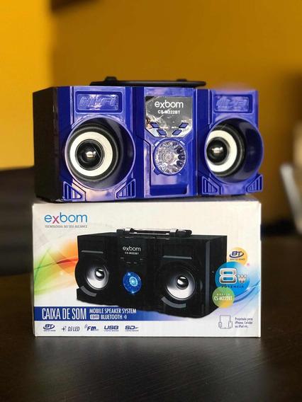 Caixa De Som Exbom M222bt Bluetooth.