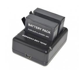 Carregador De Bateria Duplo Goparts Hero 4