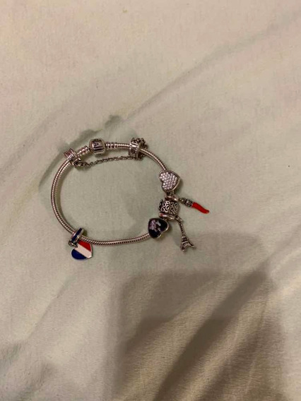 Pulseira Pandora Com Pins Em Prata Original