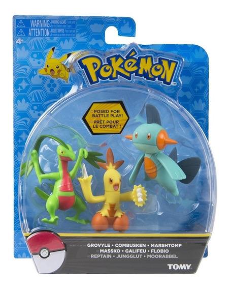 Grovyle, Combusken & Marshtomp Pokémon Nintendo Tomy T18881