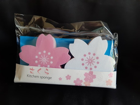 Esponjas En Forma De Sakura Para Lavar Trastes