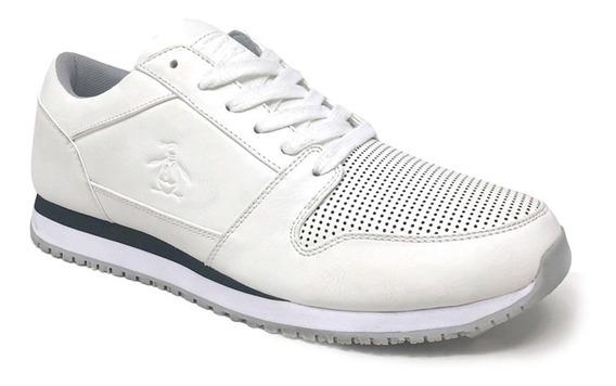 Tenis Original Penguin Para Hombre Color Blanco Tipo Piel