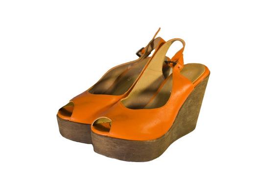Zapatos Boating Naranjas Hermosos 0045 Mujer Nuevos Oferta!