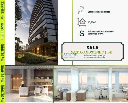Imagem 1 de 15 de Sala À Venda, 27 M² E 01 Vaga - Santo Agostinho - Belo Horizonte/mg - Sa0136