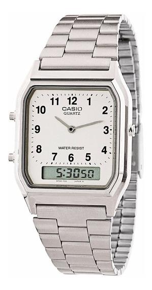 Relógio Masculino Anadigi Casio Aq-230a Prata B Original