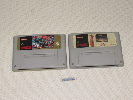 Street Fighter 2 + Nba 96 Originais Super Nintendo Europeu