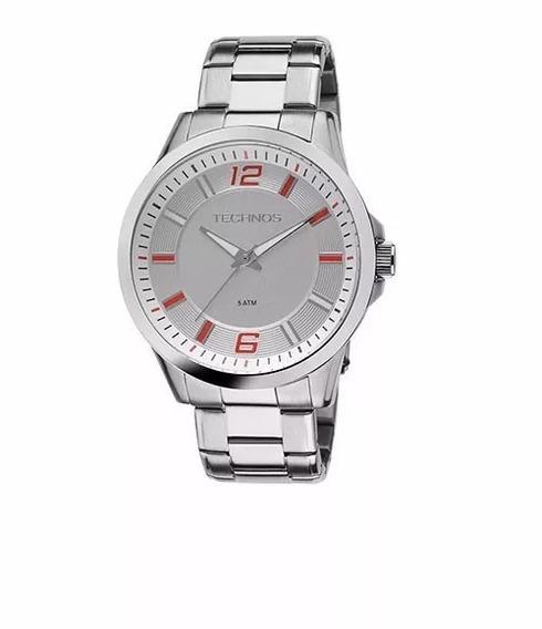 Relógio Technos Prateado Masculino 2036lny/1b Original C/nfe