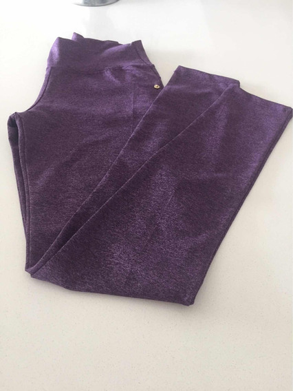 Calza Tipo Pantalon Color Violeta Talle M Nueva