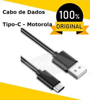 Cabo_de_dados_usb_tipo-c Motorola Moto_z3 Play_z2 Play _x4 100% Original + Cupom Fiscal/nota Fiscal