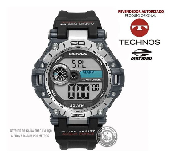 Relógio Mormaii Masc Acqua Force Mo14073aa/8p N Fiscal Preto