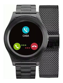 Relógio Technos Connect Smartwatch Touch Screen Sraf/4p Pret