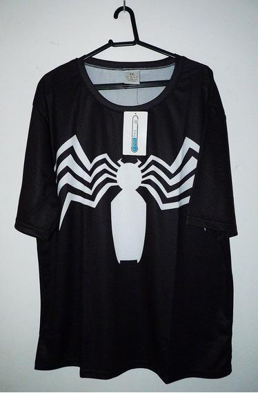 Camiseta Marvel Homem Aranha Preta Spider-man Pronta Entrega