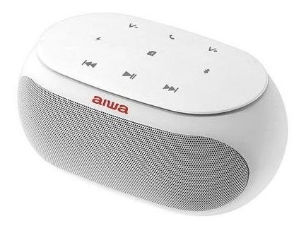 Caixa De Som Bluetooth Auxiliar Bateria Aiwa Aw-31-branca