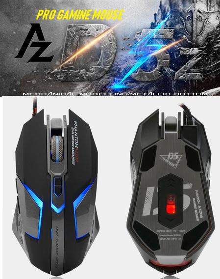Mouse Gamer Azzor Nível Dpi Ajustável, 1200-1600-2400-3200dp