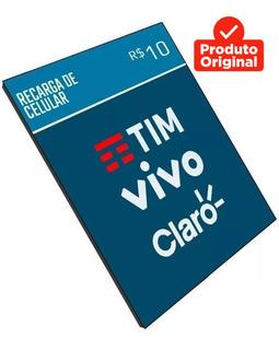Recarga Celular Crédito Online Tim Claro Vivo Oi R$ 30,00