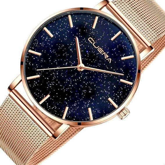 Relógio Feminino Novo Original Brilhante Bonito Luxo