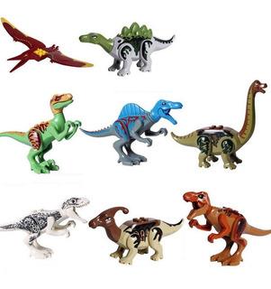 Dinosaurios Tipo Lego Set 8 Pzs Jurassic World Serie 2
