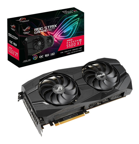 Placa De Video Asus Rog Strix Rx5500 Xt Gaming 8gb Oc Rgb