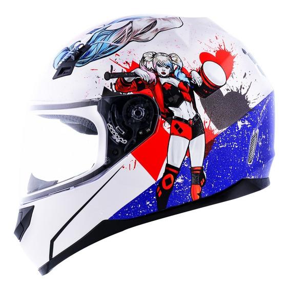 Capacete Norisk Ff391 Harley Quinn Capacete Moto Arlequina