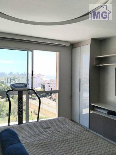 Imagem 1 de 22 de Flat Com 1 Dormitório À Venda, 63 M² Por R$ 380.000,00 - Glória - Macaé/rj - Fl0019