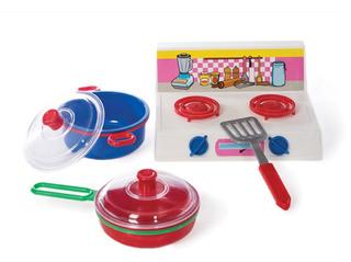 Set De Cocina Con Olla Y Sartén Petit Gourmet Lionels 110