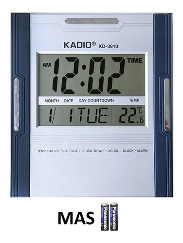 Reloj Pared Kadio Kd3810 Escritorio Termómetro 100% Original