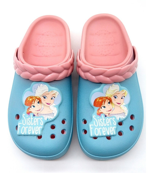 Chinelo Clog Babuche Frozen Sisters Forever Disney Ref 21747