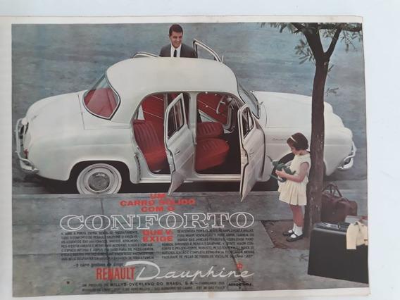 Propaganda Antiga Renault Dauphine 61