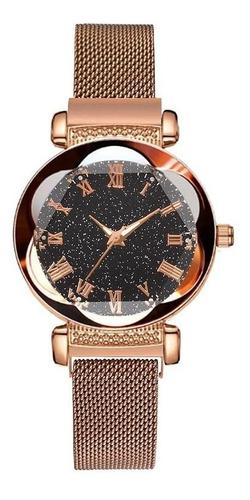 Reloj Dama Magnético Cielo Estrellado Visión Nocturna