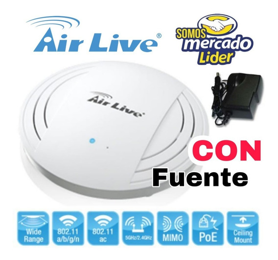 Access Point Airlive Ac.top Poe Poe 1200mbps Incluye Fuente