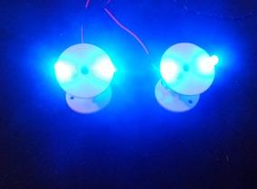 Spots Moveis Iluminação 12v Neon Porta Malas Som Teto 2 Und