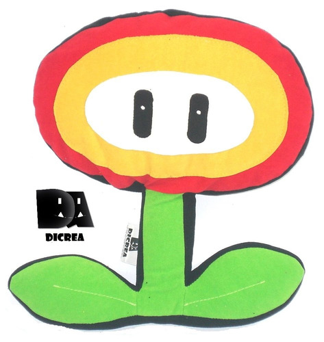Cojines Dicrea Flor Fuego,mario Bros, Videojuegos,, Gamers,