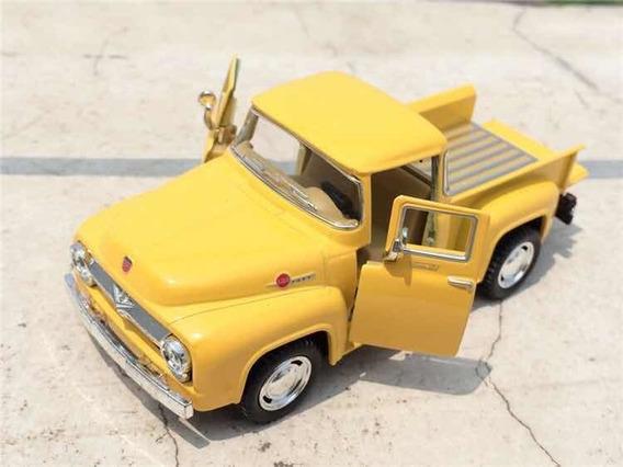 Miniatura Caminhão Caminhonete Ford F100 Pickup 1958 Amarela