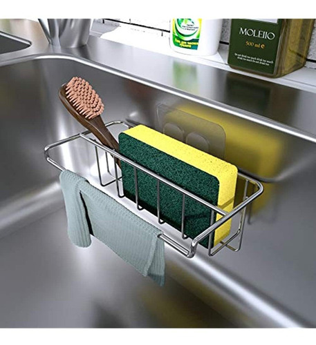 Imagen 1 de 5 de Organizador Adhesivo Para Fregadero, Soporte Para Esponja, C